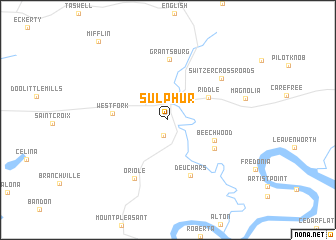 map of Sulphur