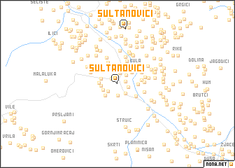map of Sultanovići