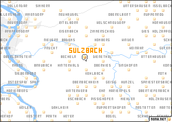map of Sulzbach