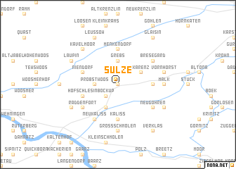 map of Sülze