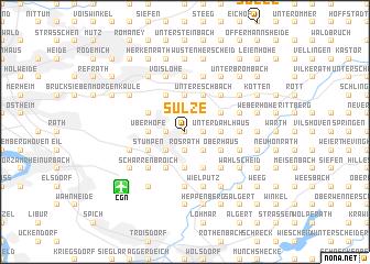 map of Sülze