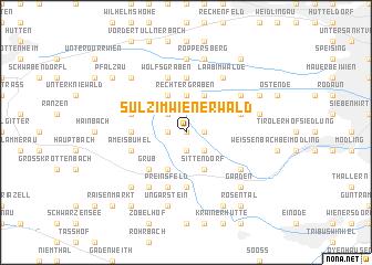 map of Sulz im Wienerwald