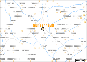 map of Sumberrejo
