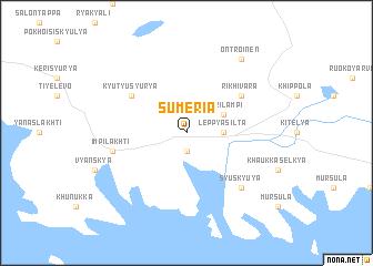 map of Sumeria
