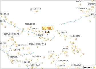map of Šumići