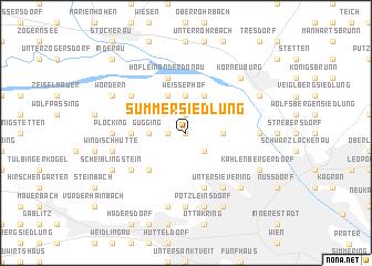 map of Summersiedlung