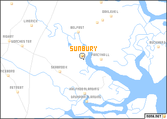Sunbury United States USA Map Nonanet - Georgia on usa map