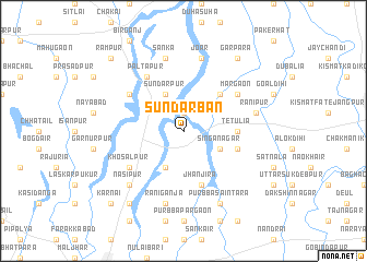map of Sundarban