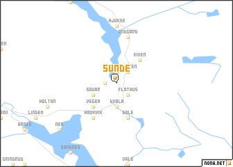 map of Sunde