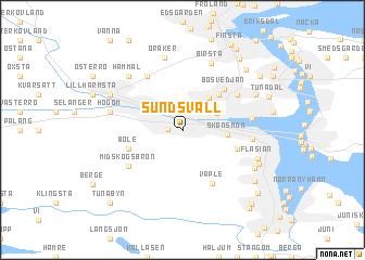 Sundsvall Sweden Map Nonanet - Sweden map sundsvall