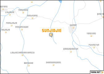 map of Sunjiajie