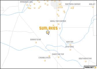 Sun Lakes United States Usa Map Nona Net