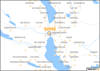 Sunne Sweden Map Nonanet - Sweden map varmland