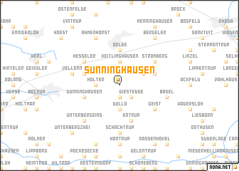 map of Sünninghausen