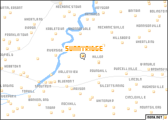 map of Sunny Ridge