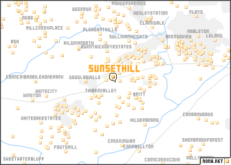 map of Sunset Hill