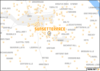 map of Sunset Terrace