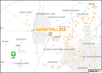 map of Sunset Village