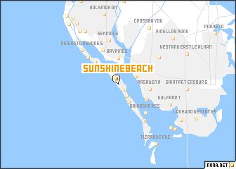 map of Sunshine Beach