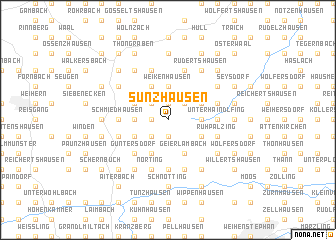 map of Sünzhausen