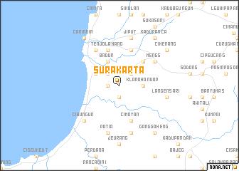 Surakarta (Indonesia) map - nona.net