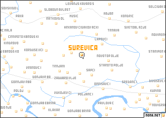 map of Surevica