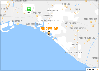 map of Surfside