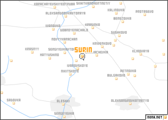 map of Surin