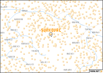 map of Šurkovac