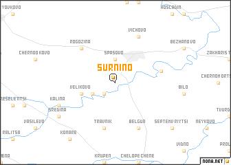 map of Sŭrnino