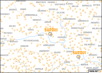 map of Surovi