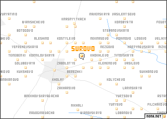 map of Surovo