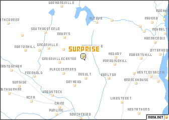 map of Surprise