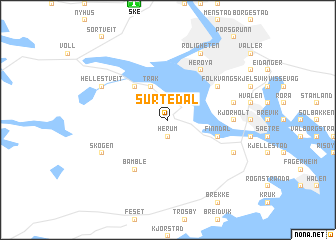 map of Surtedal