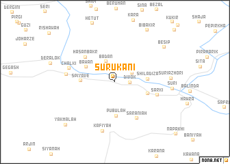 map of Surūkānī