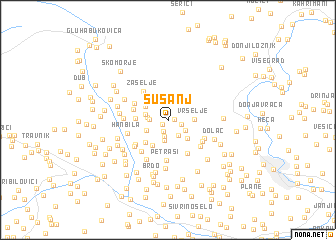 map of Šušanj
