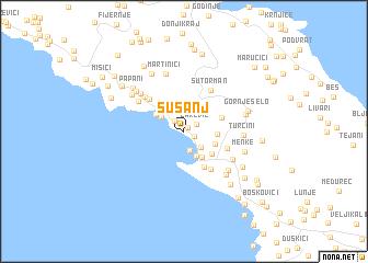 crna gora susanj mapa Šušanj (Serbia and Montenegro) map   nona.net crna gora susanj mapa
