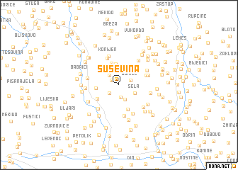 map of Šuševina