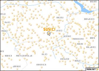 map of Sušići