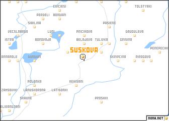 map of Šuškova