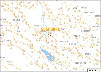 map of Šušnjare