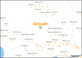 map of Šušnjari