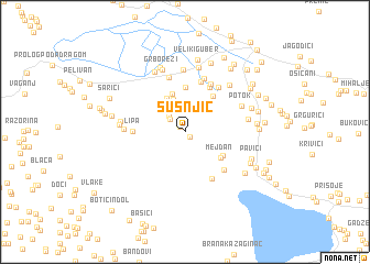 map of Šušnjić
