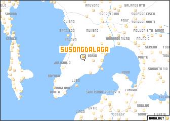 map of Susong Dalaga