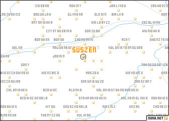 map of Suszeń