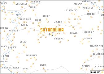 map of Šutanovina