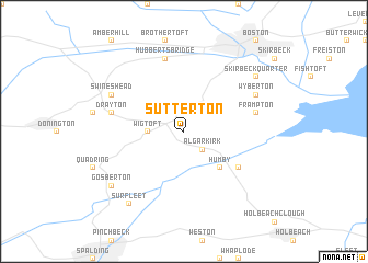 map of Sutterton