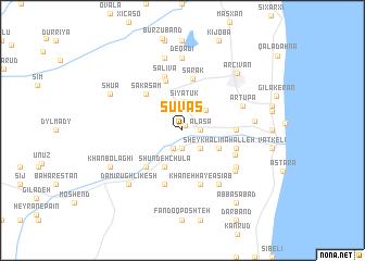 map of Şuvaş