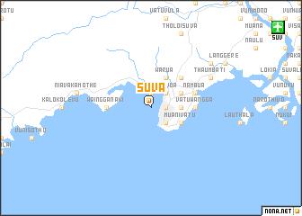 Suva Fiji map nonanet