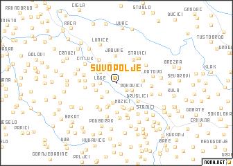 map of Suvo Polje